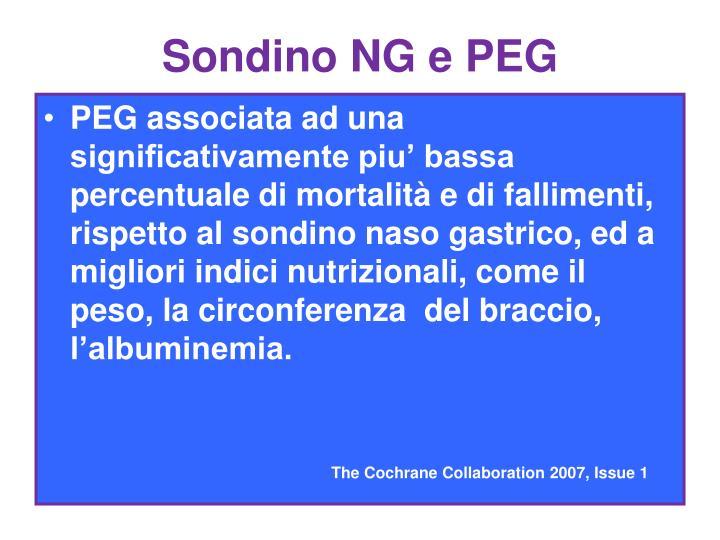 Sondino NG e PEG