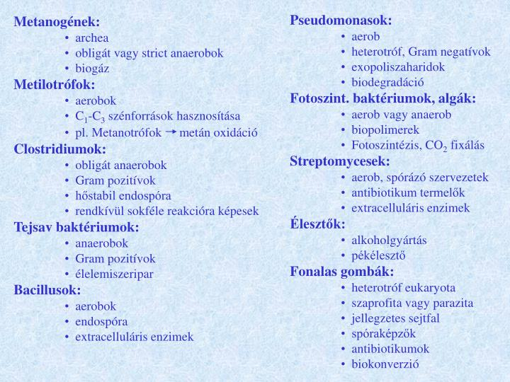 Pseudomonasok: