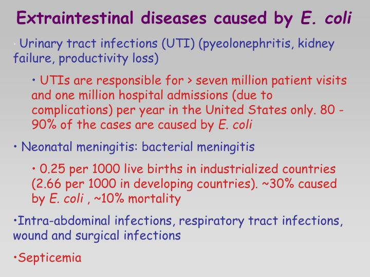 Extraintestinal diseases caused by