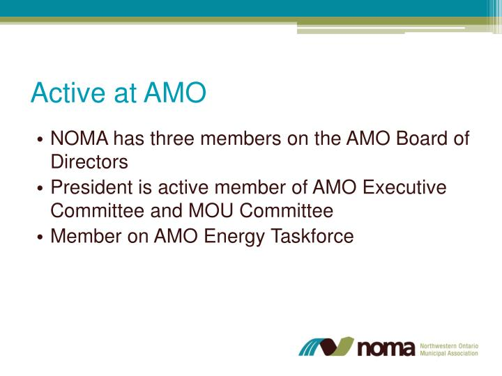 Active at AMO