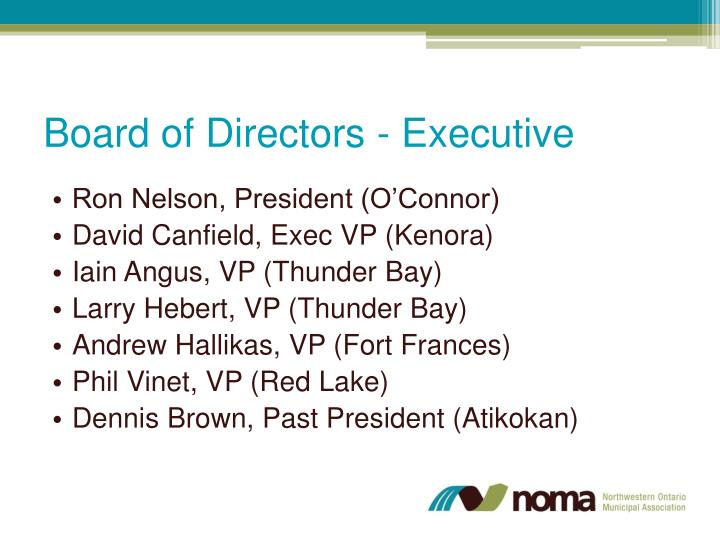 Board of Directors - Executive