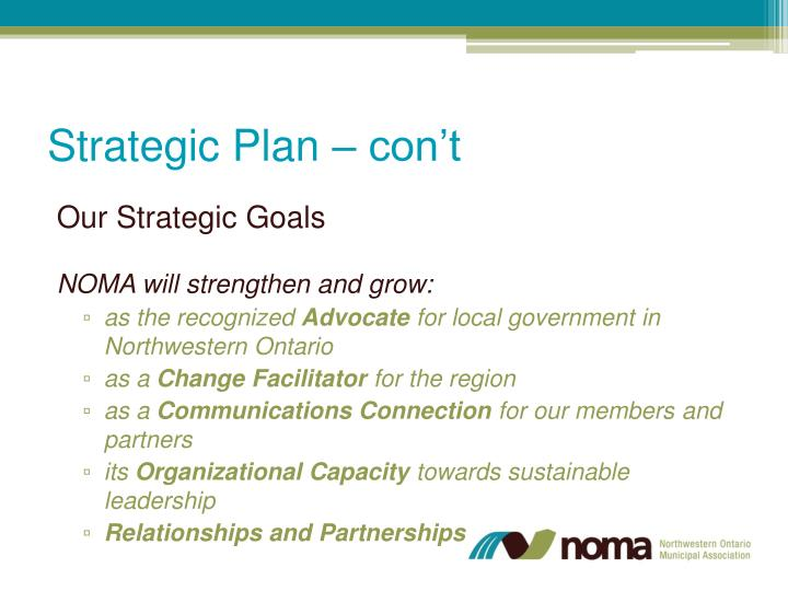 Strategic Plan –