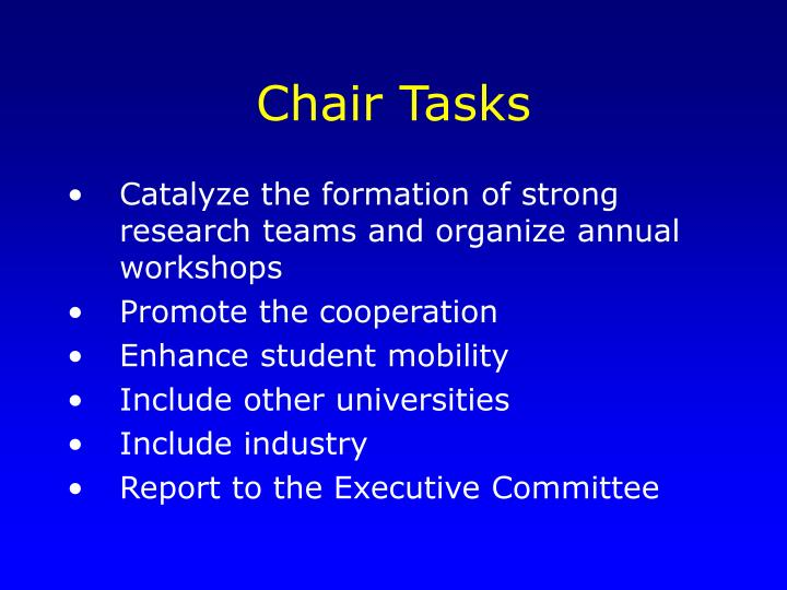 Chair Tasks
