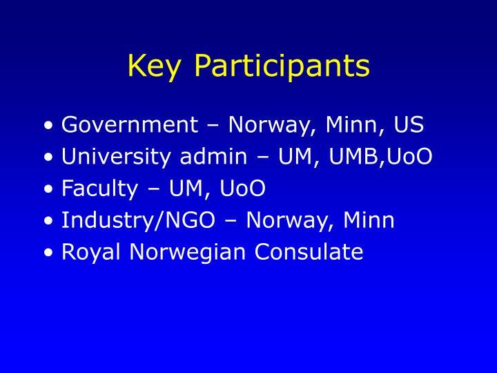 Key Participants