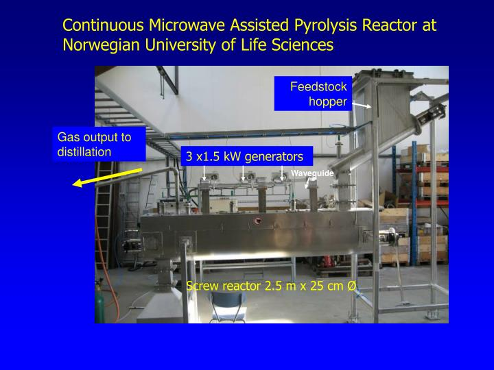 Continuous Microwave Assisted Pyrolysis Reactor at Norwegian University of Life Sciences