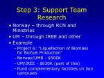 step 3 support team research