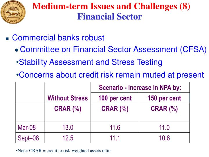 Medium-term Issues and Challenges (8)
