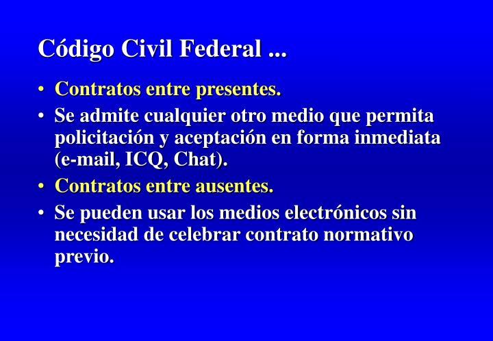 Código Civil Federal ...