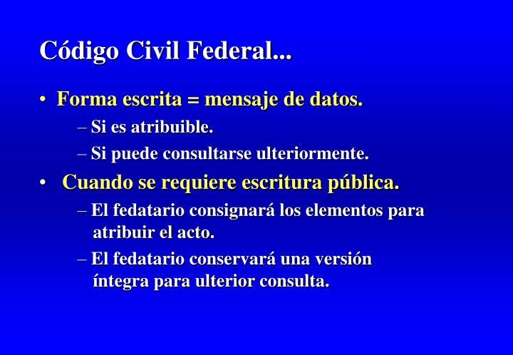 Código Civil Federal...