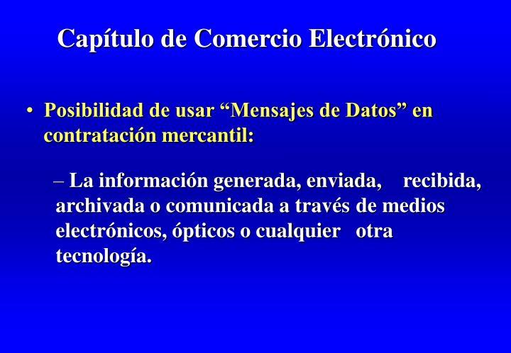 Capítulo de Comercio Electrónico