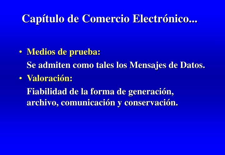Capítulo de Comercio Electrónico...