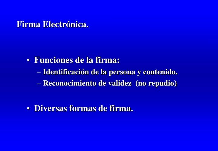 Firma Electrónica.