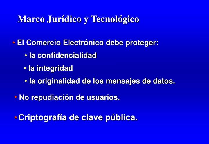 Marco Jurídico y Tecnológico