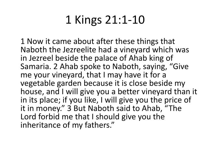 1 Kings 21:1-10