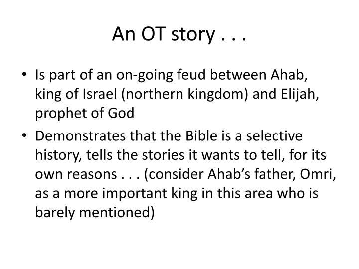 An OT story . . .