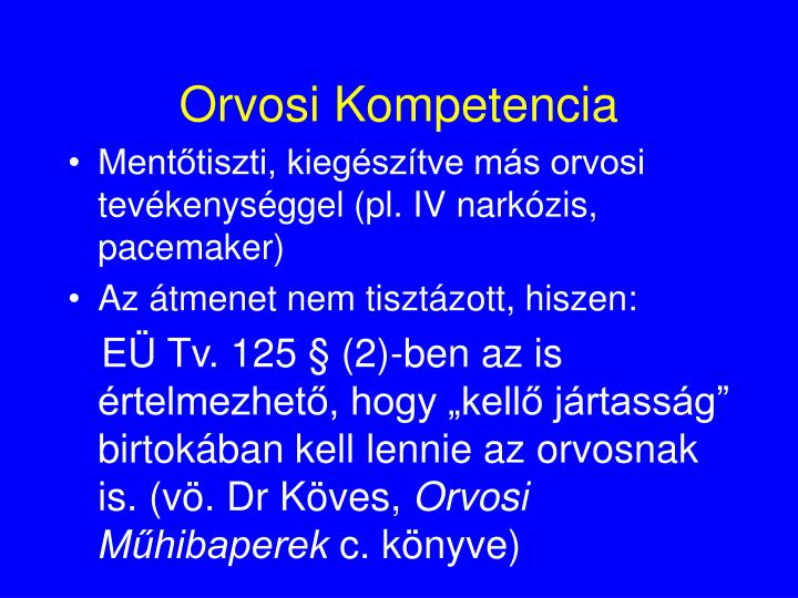 Orvosi Kompetencia