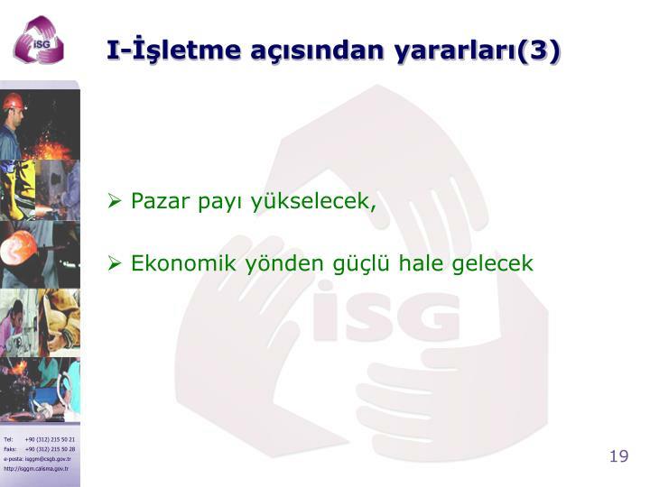 I-İşletme açısından yararları(3)