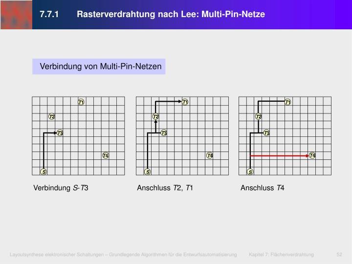 7.7.1 Rasterverdrahtung nach Lee: Multi-Pin-Netze