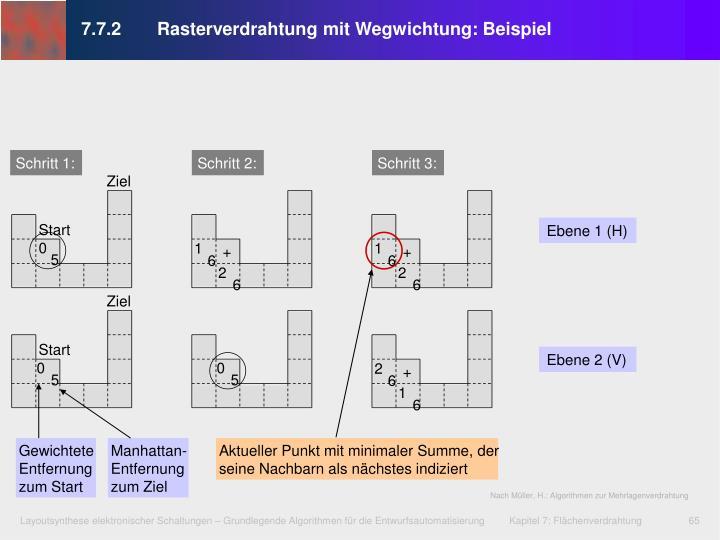 7.7.2 Rasterverdrahtung mit Wegwichtung: Beispiel
