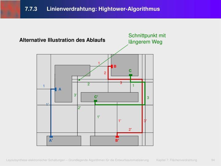 7.7.3Linienverdrahtung: Hightower-Algorithmus
