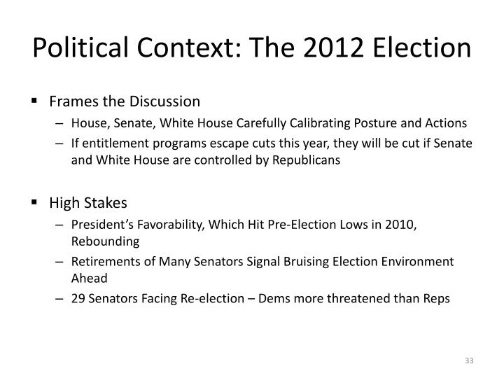 Political Context: The 2012 Election