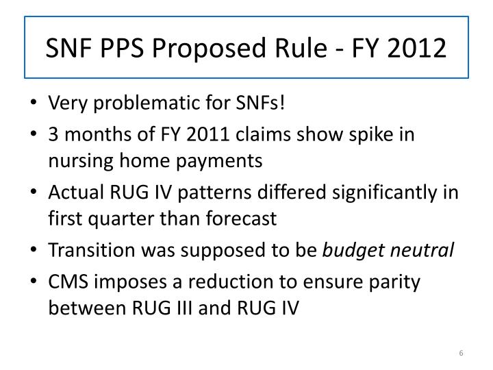 SNF PPS Proposed Rule - FY 2012