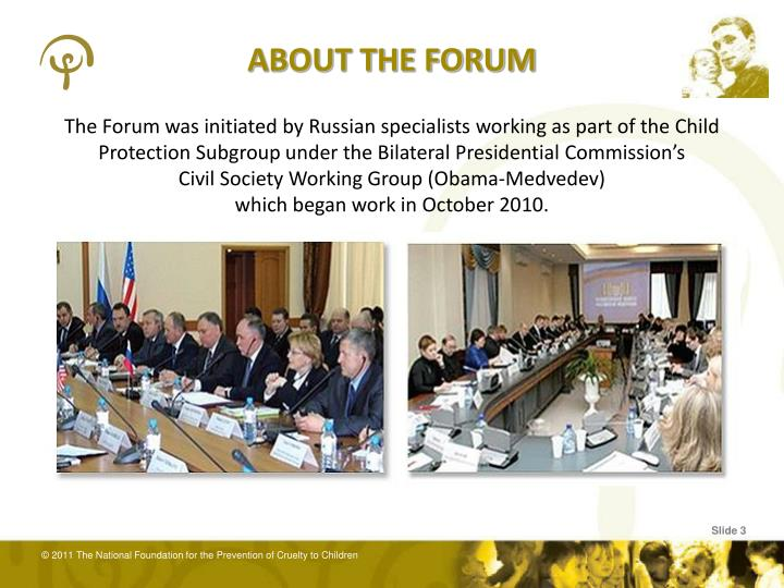 ABOUT THE FORUM