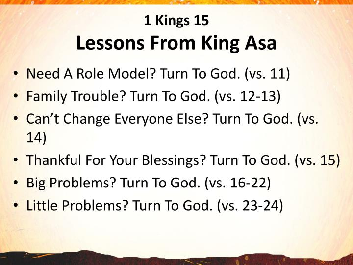 1 kings 15 lessons from king asa