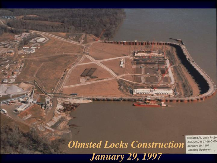 Olmsted Locks Construction January 29, 1997