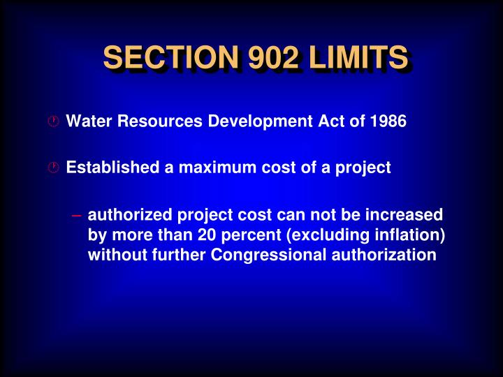 SECTION 902 LIMITS