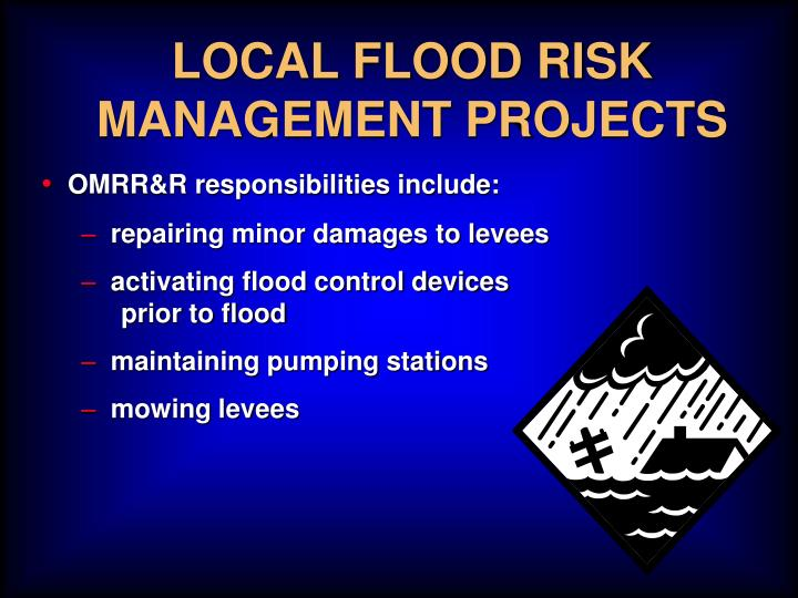 LOCAL FLOOD RISK MANAGEMENT PROJECTS