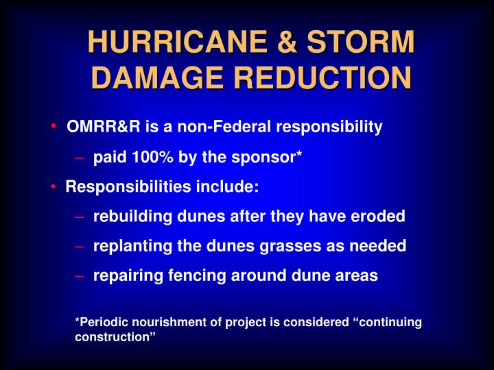 HURRICANE & STORM DAMAGE REDUCTION