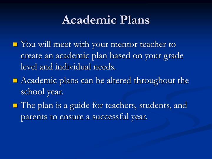 Academic Plans
