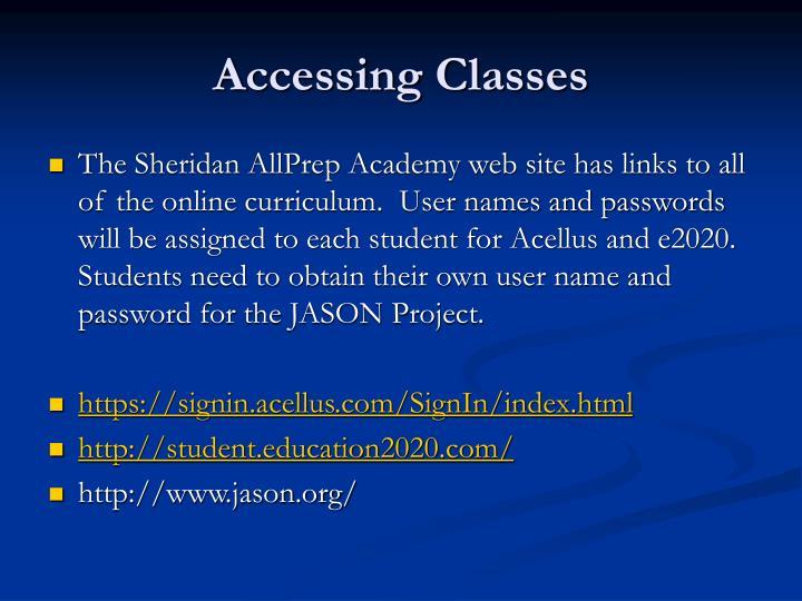 Accessing Classes