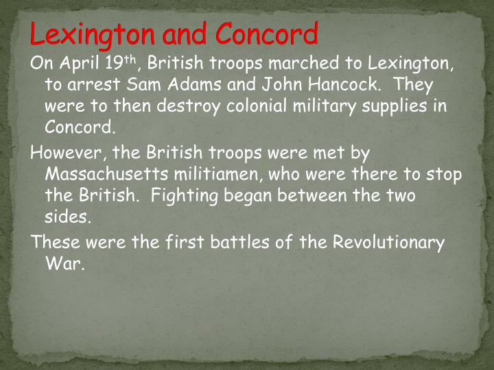Lexington and Concord