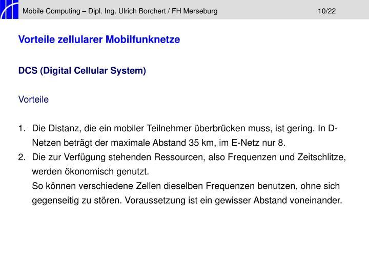 Mobile Computing – Dipl. Ing. Ulrich Borchert / FH Merseburg10/22