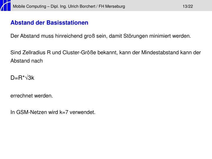 Mobile Computing – Dipl. Ing. Ulrich Borchert / FH Merseburg13/22