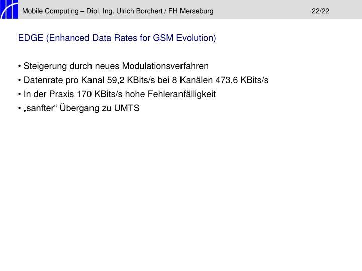 Mobile Computing – Dipl. Ing. Ulrich Borchert / FH Merseburg22/22