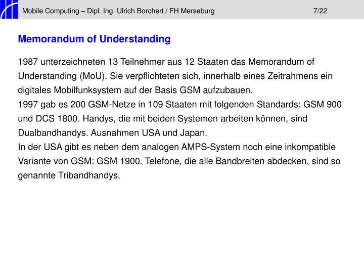 Mobile Computing – Dipl. Ing. Ulrich Borchert / FH Merseburg7/22