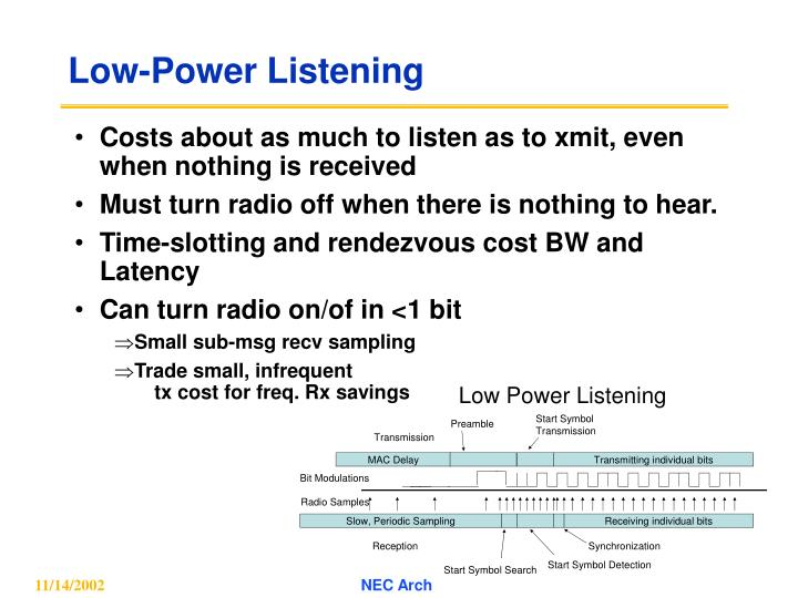 Low-Power Listening