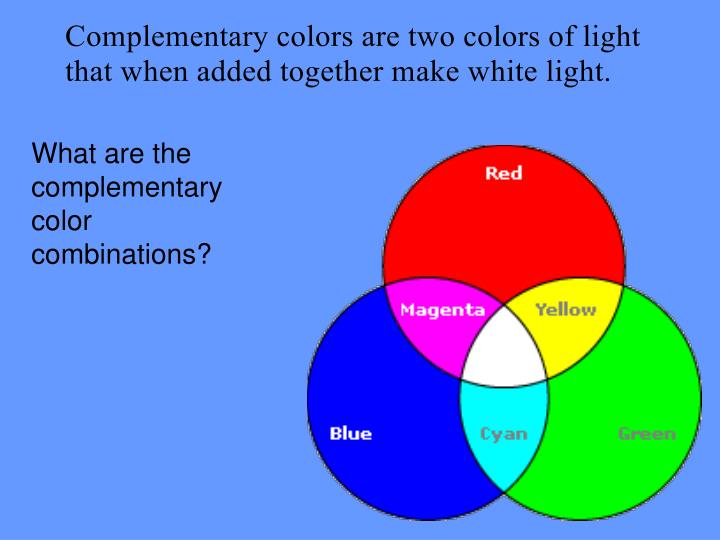 What are the complementary color combinations?
