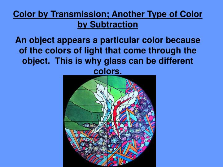 Color by Transmission; Another Type of Color by Subtraction