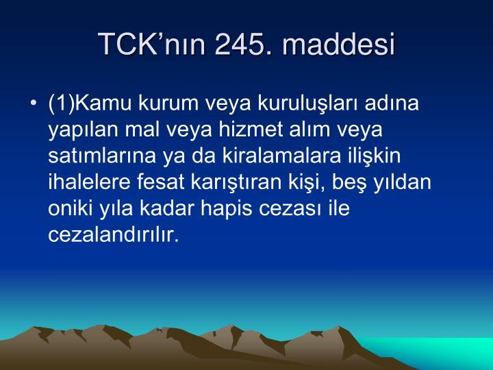 TCK'nın