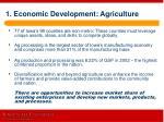 1 economic development agriculture