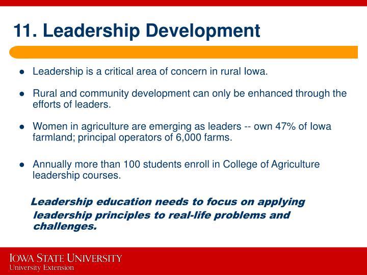 11. Leadership Development