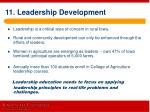 11 leadership development
