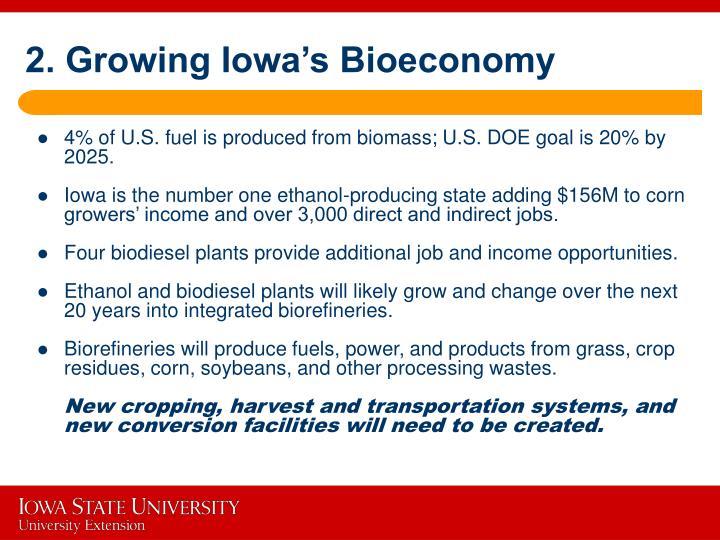 2. Growing Iowa's Bioeconomy