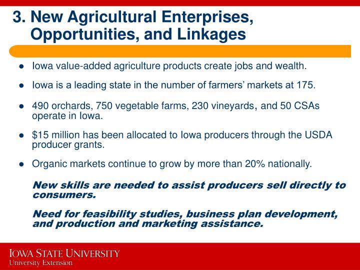 3. New Agricultural Enterprises,