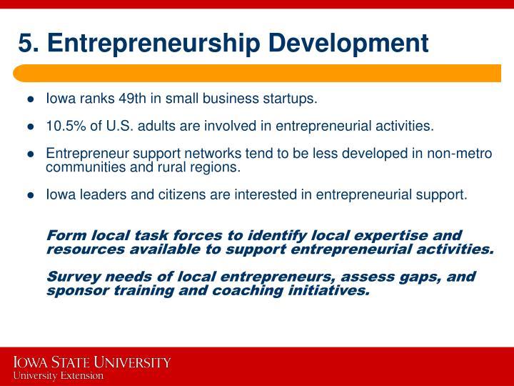 5. Entrepreneurship Development