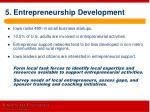 5 entrepreneurship development